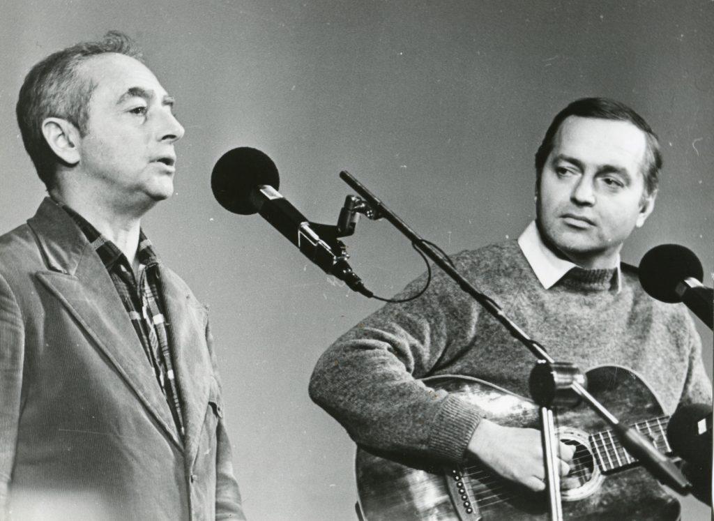 С Сергеем Никитиным, декабрь 1984 года, вечер памяти Ю. Визбора