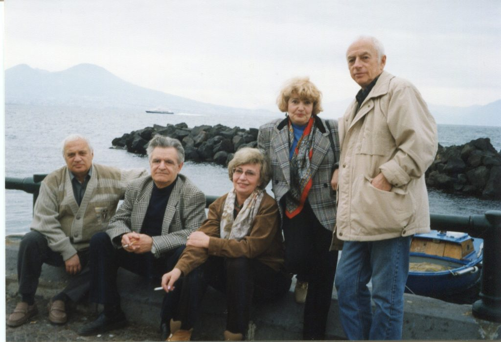 С Фазилем Искандером в Неаполе, 1999 год