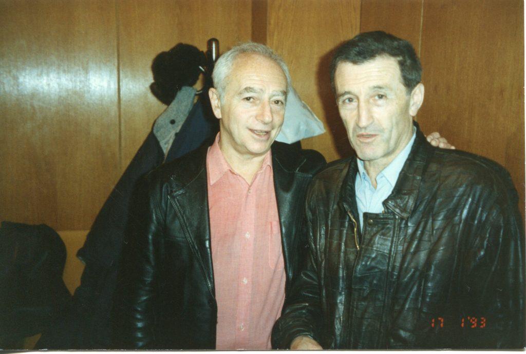 С Генрихом Штейнбергом, Москва, ЦДЛ, 1991 год