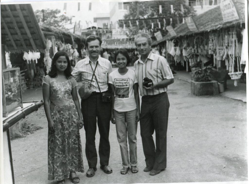 Александр Городницкий в Маниле, 1976 год